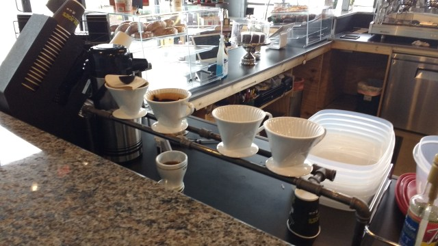 Green Joe's pour-over setup.
