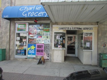 308 S. Elm St. is divided into two bays, including the defunct Computer & Electronic Services store. (photo by Jordan Green)