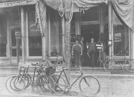 Hege's sporting goods store on North Main Street was looted of guns and ammunition.