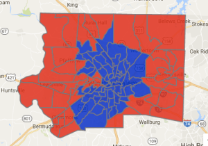 Forsyth County electoral map, 2012