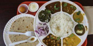 Punjabi-thali-platter-of-indian-food-at-indu-convenient-store-in-greensboro-north-carolina