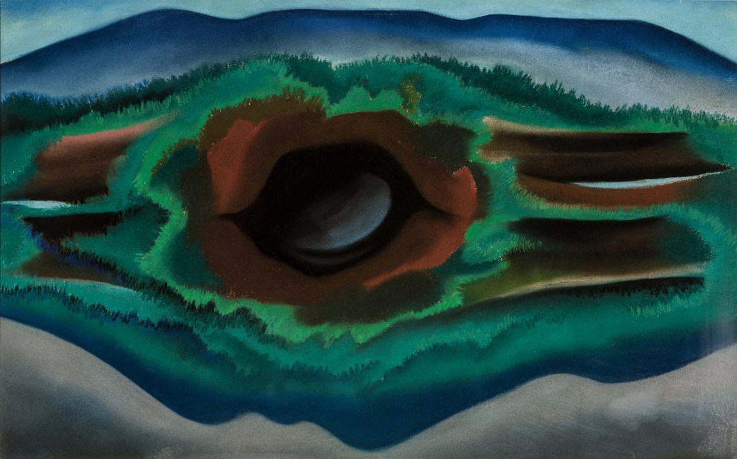 pool-in-the-woods-georgia-o-keeffe-painting