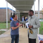 Precinct G21: where candidates find voters, and poll workers find love