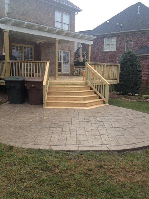 This Northwest Winston Salem NC deck patio and pergola