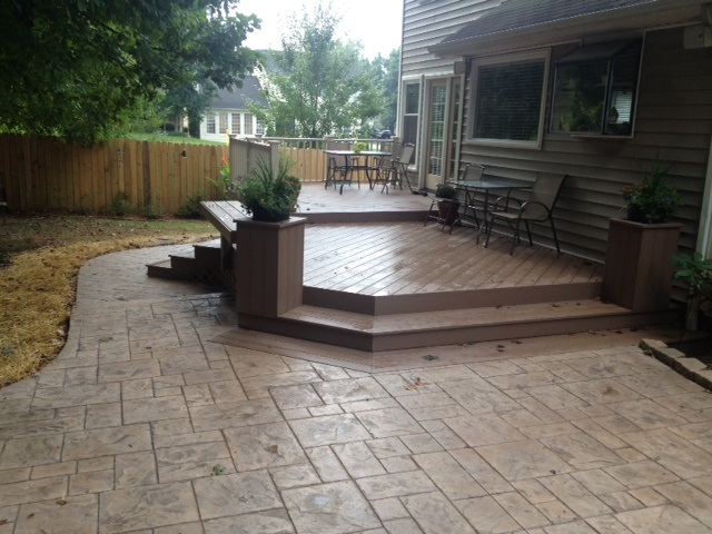 This deck and patio combination in Greensboro NC proves