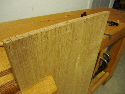 carcase dovetail layout