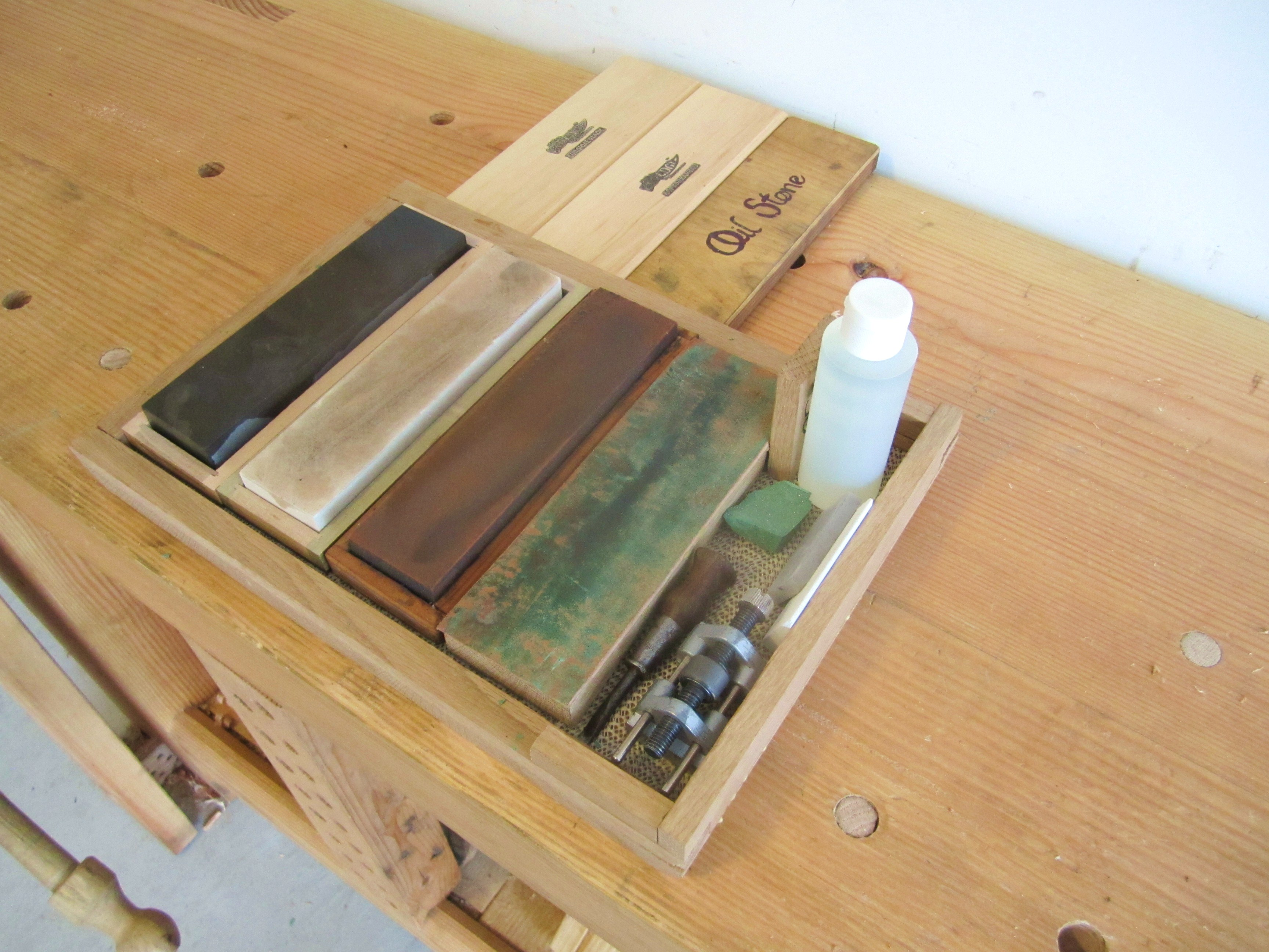Sharpening Stone Oil Or Water