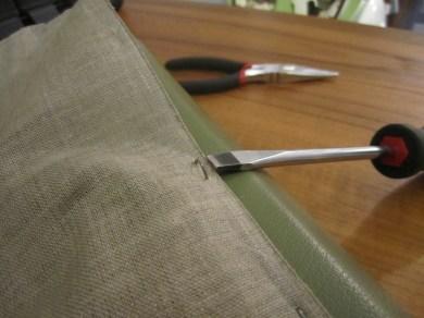 Removing staples restoration