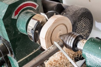 creating tenon for back of wooden button