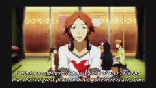 Again, Yosuke can be loveable when the veneer of horndog falls away and his sincerity shines through.