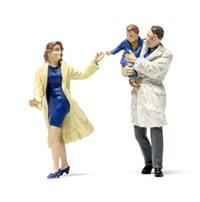 Railroad model figurines