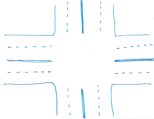 Hand drawn Intersection