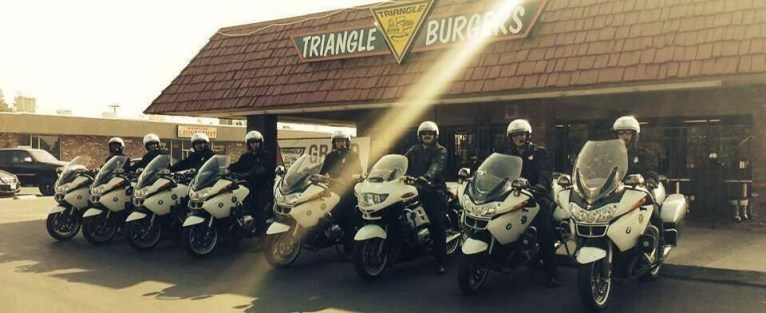 Triangle Drive In - Barstow Location with Motorscycle Police