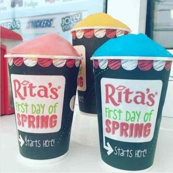 Free ice at Rita's for the first day of spring