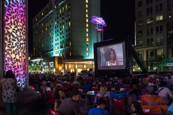 free outdoor summer movie raleigh pnc