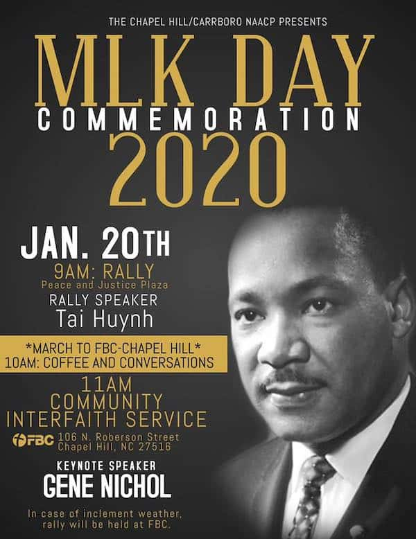 MLK Day events in Chapel Hill