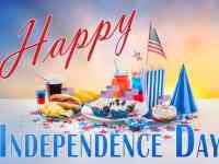 4th of july message with festive food