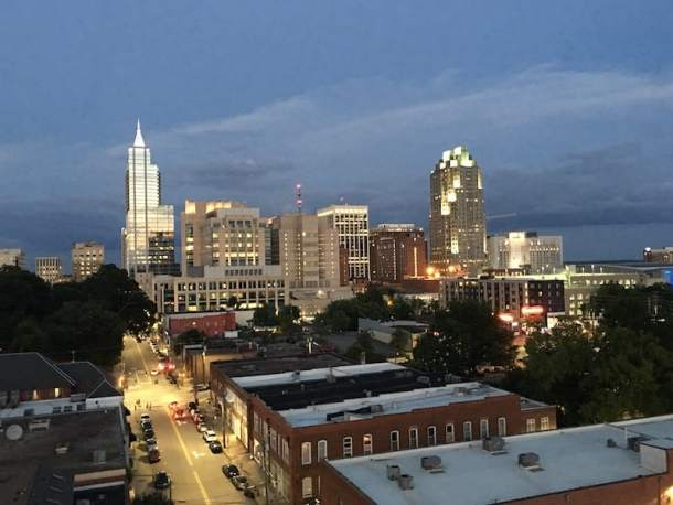downtown raleigh skyline view