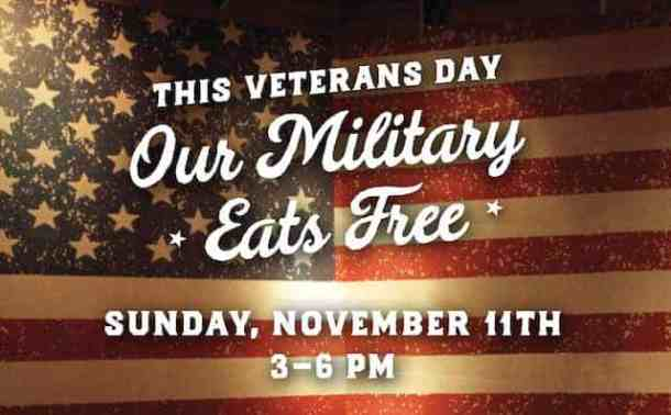 logan's roadhouse veterans day free meal