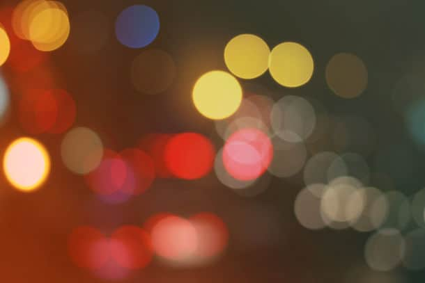 Street Bokeh Light Vintage Background