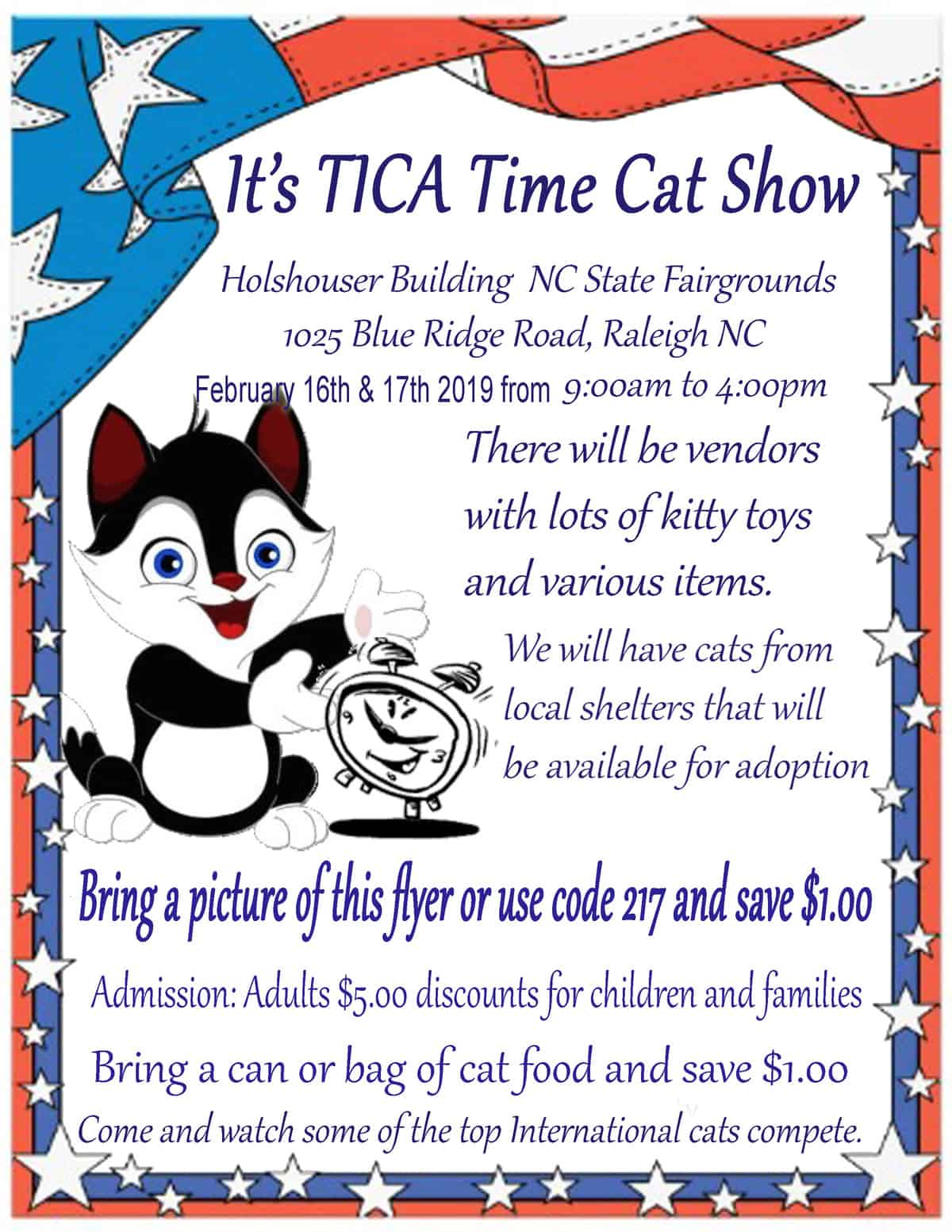 TICA Time Cat Show - Triangle on the Cheap