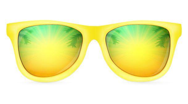 Realistic Yellow Sunglasses