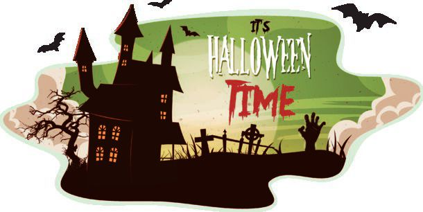 Halloween Smoke Background Illustration Of A Cartoon Spooky Landscape Background For Halloween Holidays With Haunted House Zombie Hand