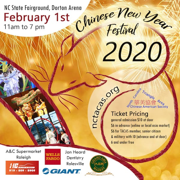 Chinese New Year Festival in Raleigh February 1