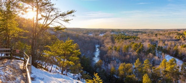 Occoneechee State Park Overlook in Winter