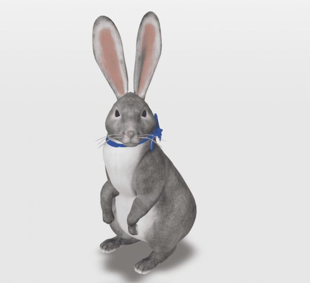 google 3d easter bunny