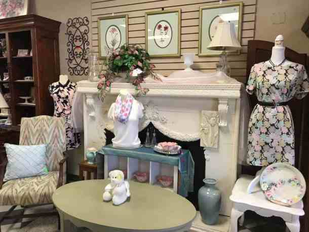 display of clothing, furniture and accessories at North Raleigh Ministries thrift store