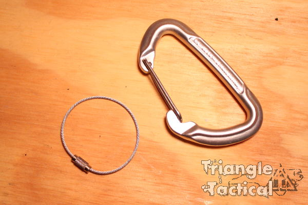 carabiner and keyring
