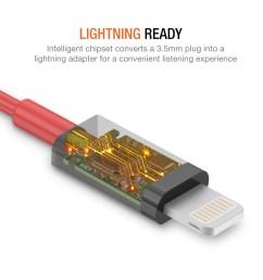 iphone lightning to 3 5mm headphone jack  [ 1000 x 1000 Pixel ]