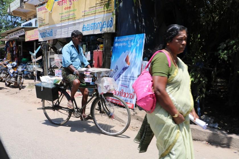 India traffic - bike