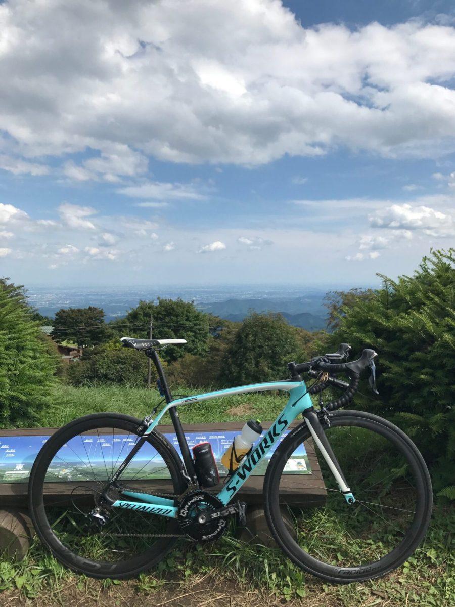 白石峠へバイクラド 185km 練習