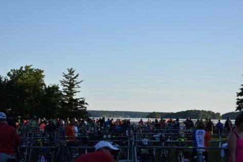 Transition area setup, early start to optimize race preparation