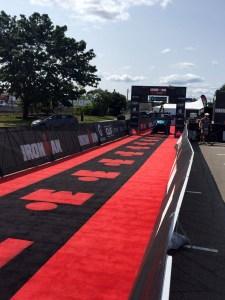 IronMan 70.3 Maine - Race insights - Finish line chute