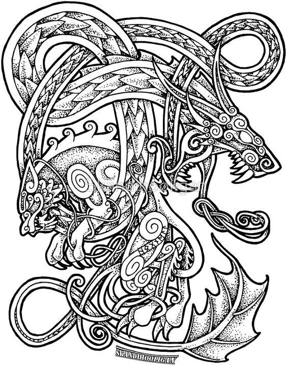 Norse Tribal Tattoo : norse, tribal, tattoo, Viking, Tattoo, Newport,, Tattoos,, History, Images, Ideas