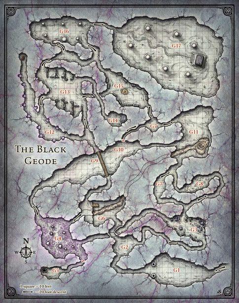 Underdark Map 5e : underdark, Map-black-geode, Tribality