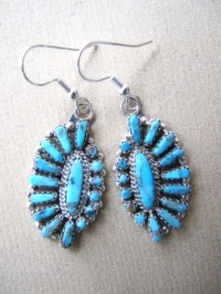 Zuni Native American Indian Turquoise Earrings