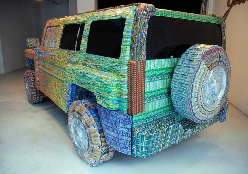 Cool Stuff Art Made from Lottery Tickets  Tribalmystic stories