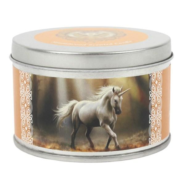 Glimpse Unicorn Tin Candle Sandalwood Anne Stokes