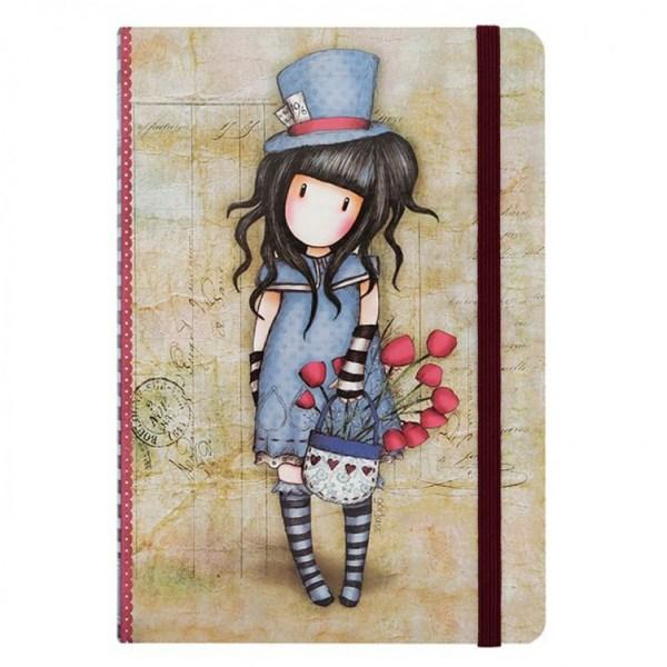 Santoro Gorjuss Hardcover Notebook The Hatter