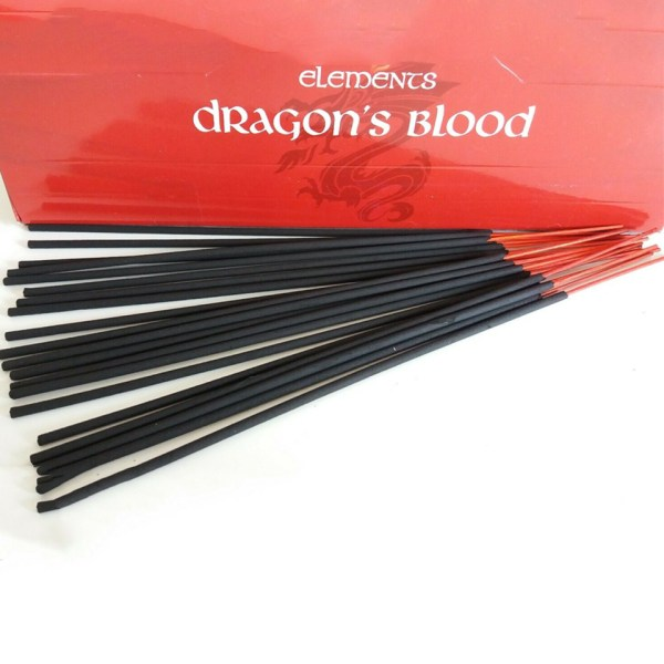 Elements Dragon's Blood Incense Sticks Cleansing Love Money Good Luck Success