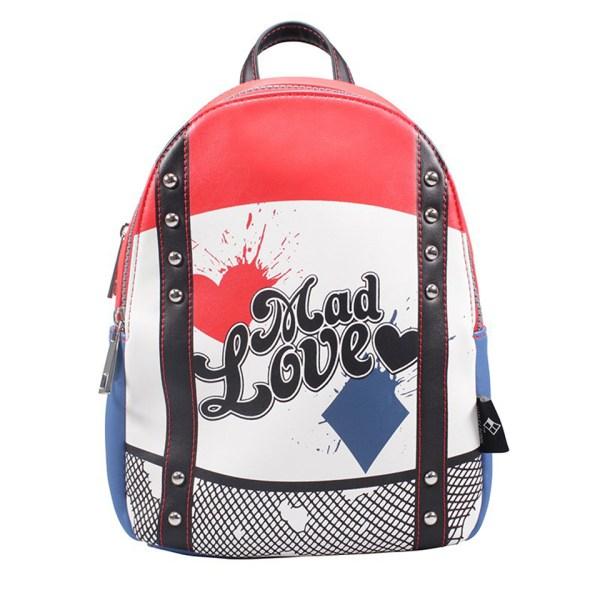DC Comics Universe Harley Quinn Rucksack Half Moon Bay Backpack Rucksack Bag Cartoon Suicide Squad Birds Of Prey