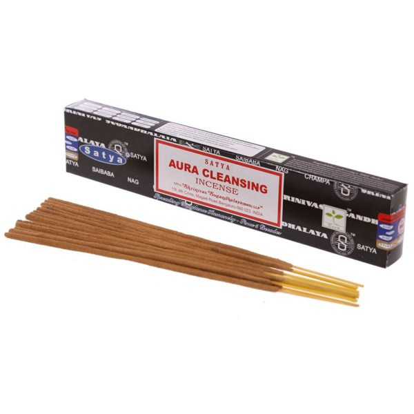 Satya Aura Cleansing Boxed Incense Sticks Cleansing Aromatherapy Fragrance Aroma