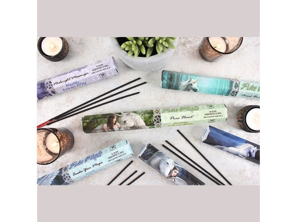 Anne Stokes Pure Heart Midnight Messenger Blue Moon Awake Your Magic Boxed Incense Sticks Jasmine Vanilla Opium Musk Infused Cleansing Aromatherapy Fragrance Aroma Unicorn Fairy Pixie Owl