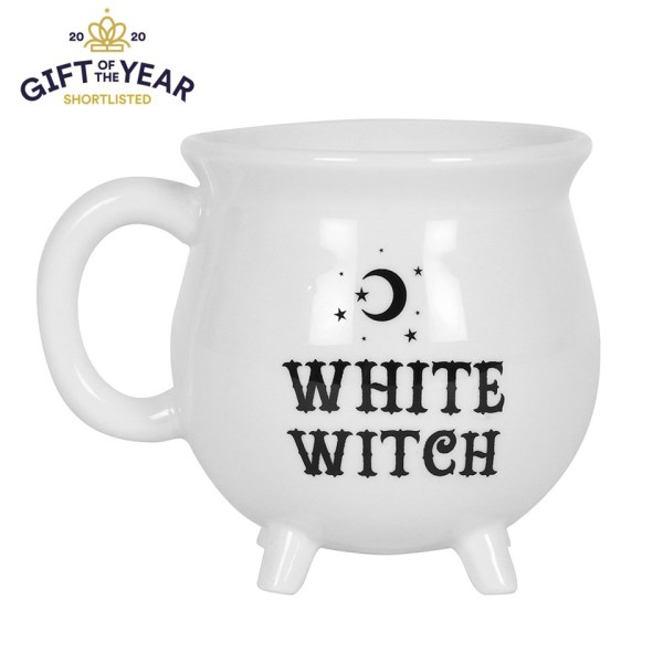 White Witch Cauldron Mug White Magic Witchcraft Wiccan Halloween Potion