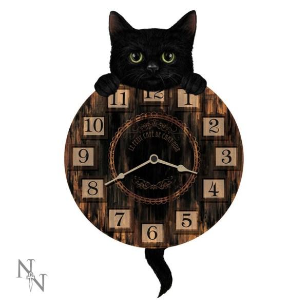 Kitten Tickin' Pendulum Clock Wall Cat Fantasy Creature Ticking Nemesis Now