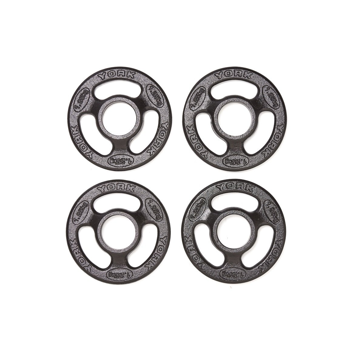 York Barbell Iso Grip Cast Iron Olympic Weight Plates